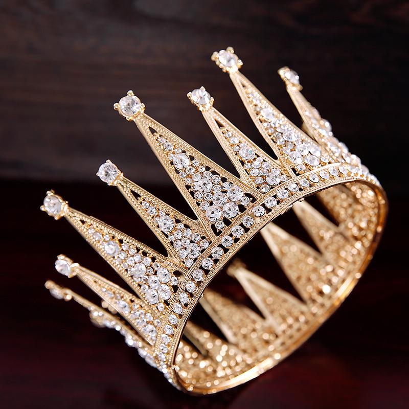 Acessórios de cabelo Crown noiva do casamento cocar barroco da Coroa Grande Wedding Dress Acessórios Nova Rodada Princesa do aniversário