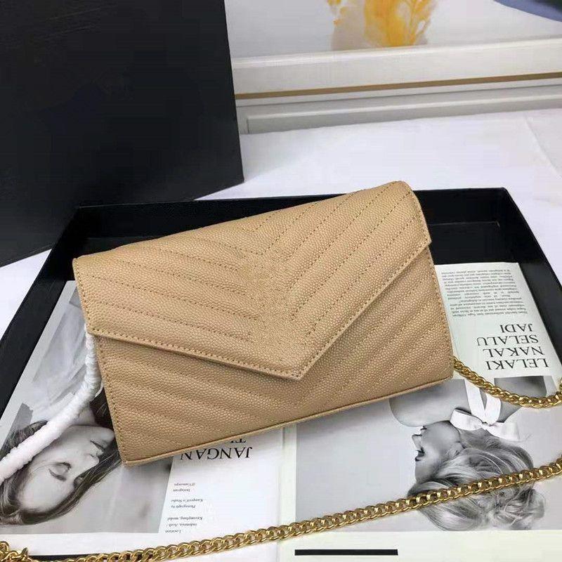 Meilleures vente des sacs à main designer chaîne métal caviar cuir de vachette sacs à main designer or argent rabat en cuir diagonale sac à bandoulière croix