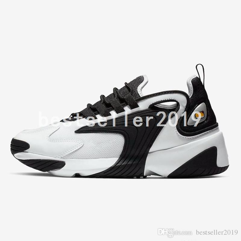2019 Triple Black M2k Tekno Zoom 2K Mens Women Running Shoes Creamy White Race Red Royal Blue Designer Sports Sneakers Trainers 36-45