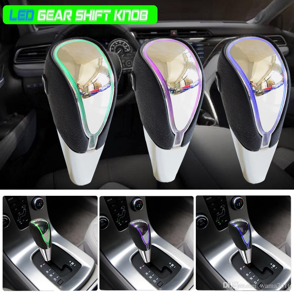 Chrome Leather MT Gear Shift Knob Fit Toyota Corolla RAV4 Yaris