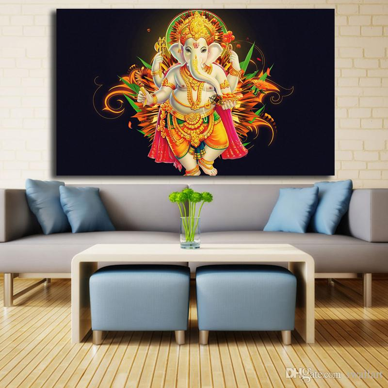 2019 Lord Ganesha Portrait Canvas Painting Living Room Home Decor Modern  Wall Art Painting Poster Picture Accessories From Iwallart, $6.33 | ...