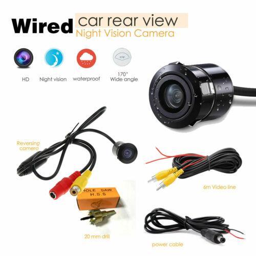 Проводные Автомобильная камера заднего вида Реверсивный резервного копирования камера с ИК ночного видения Full HD 170 ° безопасности Reverse Mini Видеокамеры 3B17