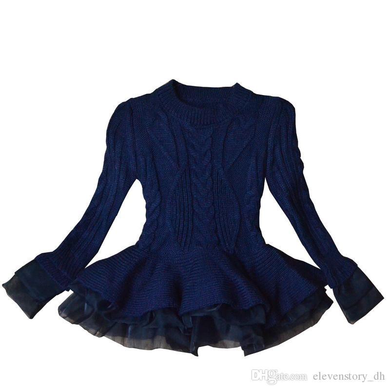 Bébés filles 3 à 8 ans de chandails de mode, les enfants tutu hiver Vêtements enfants Pull, boutique de vêtements, R1BB406TS-29