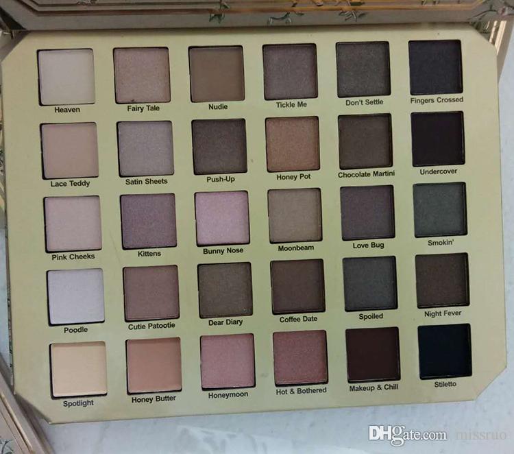 Maquillaje paletas de sombras de ojos natural del chocolate Amor sombra de ojos cosméticos última colección de 30 colores neutros set envío libre de DHL