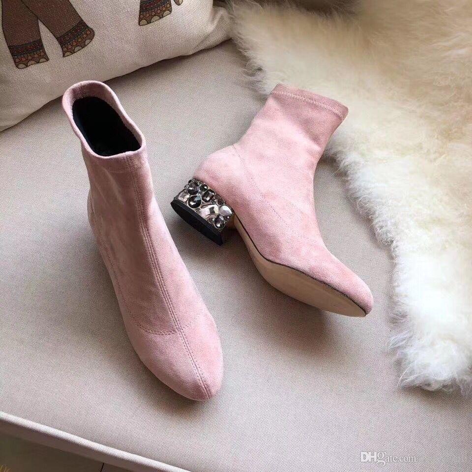 Горячие Продажа вязки носка пинетки Женщины Дизайнерские ботинки снега Вязаные пинетки Женщины Повседневная Мартин сапоги оптом женские Сапоги зимние