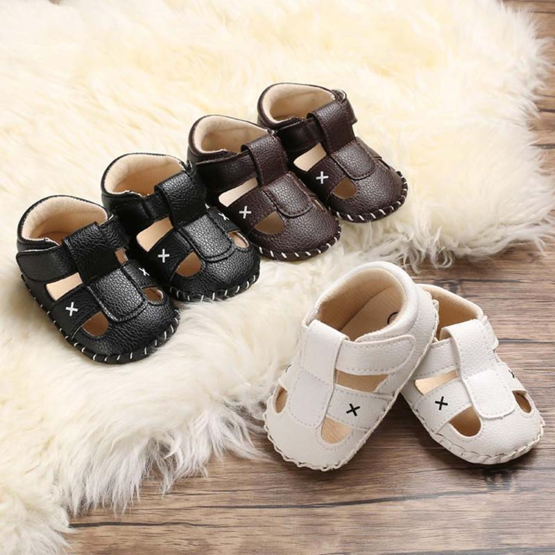 1 Pair Baby Shoes Fashion Baby Sandals Toddler First Walkers Boys Girls Shoes For Summer Cute Kids Cool Comfortable Beach