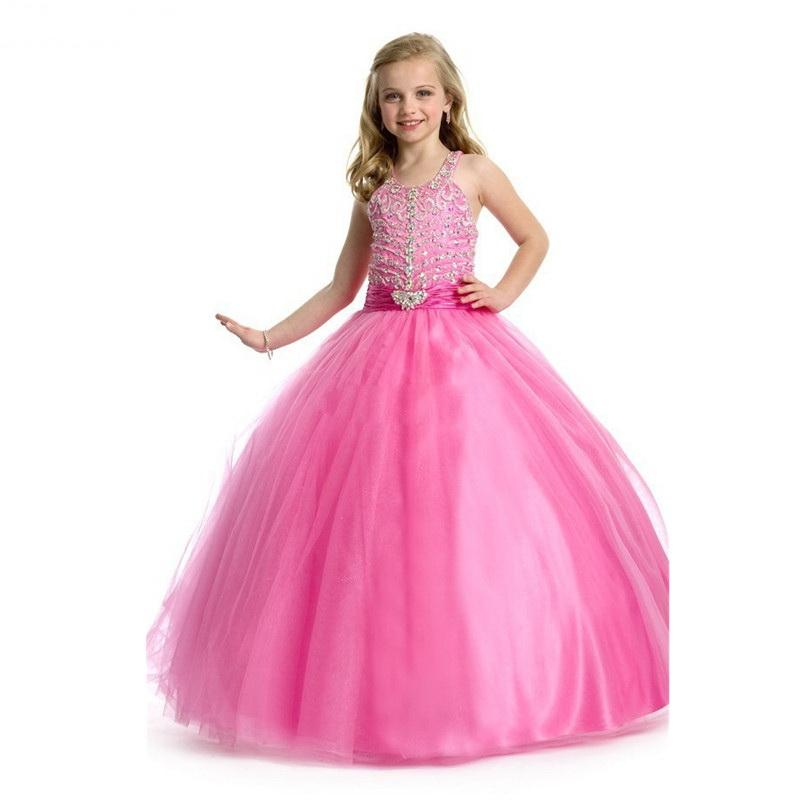 New Ball Gown Kids Sequin Flower Girls Dress Kids Pageant Party Wedding Ball Gown Prom Princess Formal Occassion Girls Dress