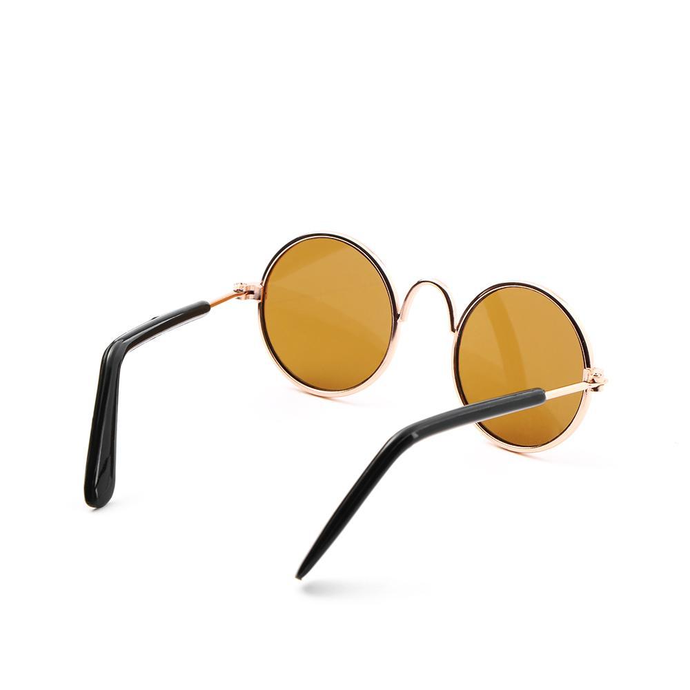 Moda gato de estimação Sunglasses cão Óculos Óculos frescos Grooming Fotos Props cor aleatória Pet Acessórios