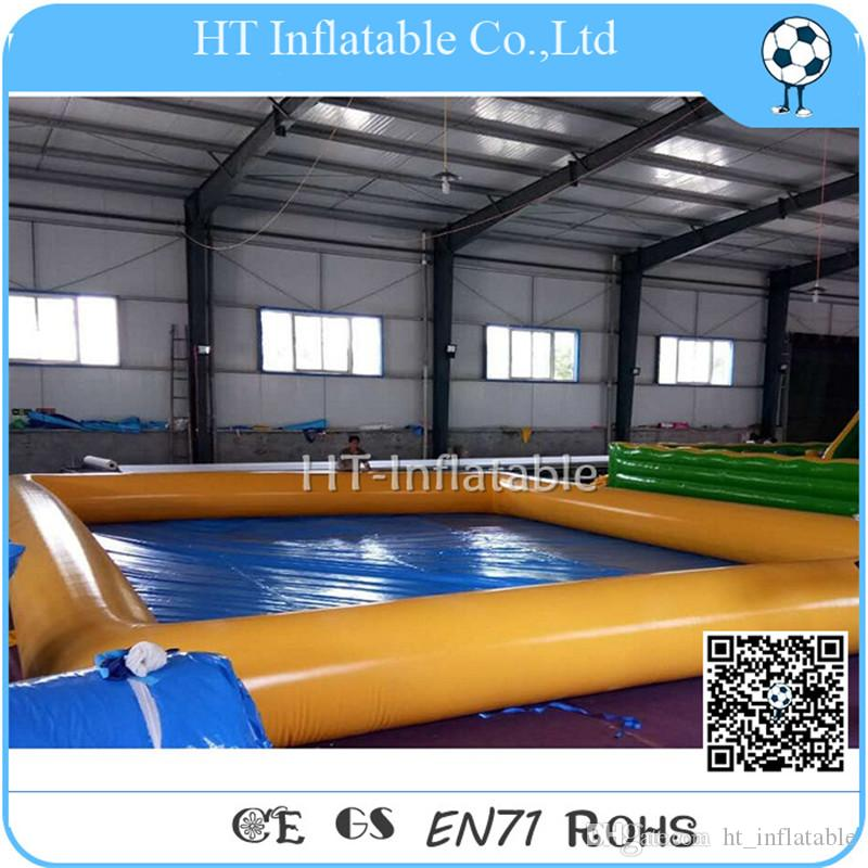 شحن مجاني 6x6m 2020 كبير PVC مستطيلة القابل للنفخ بركة سباحة للأطفال والكبار / تجاري قابل للنفخ بركة ماء