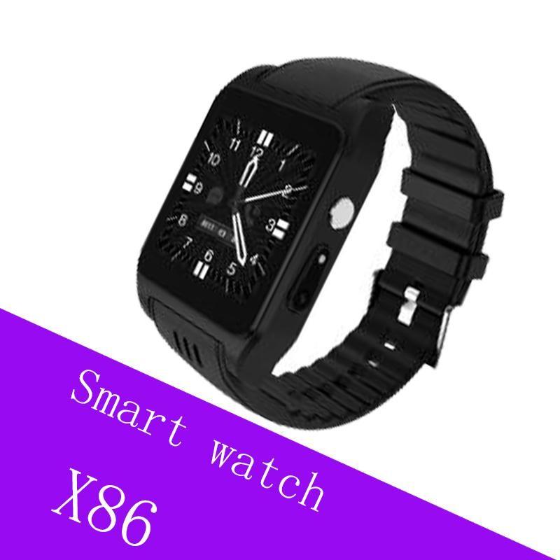 X86 Smartwatch WiFi Android 4.4 6 relógio inteligente Coração MTK6572 1.0GHz Dual Core 0.3MP Camera Rate Monitor Smartwatch 3G