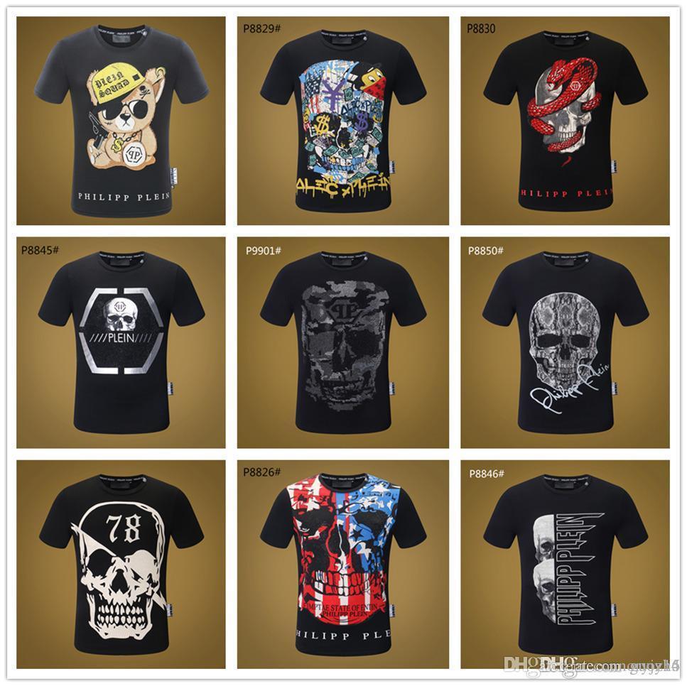 2019 Mix 22 modelle Marke Luxus T-shirt Männer Luziferous Cougar Schädel 3D T-shirts Crewneck Full Print Hipster Männer Coole T-Shirts Sommer T