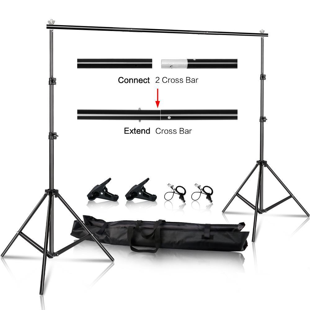 2x2m / 6.5x6.5ft Foto Video Studio-Hintergrund-Hintergrund-Stand, Verstellbare Teleskop Hintergrund Support System