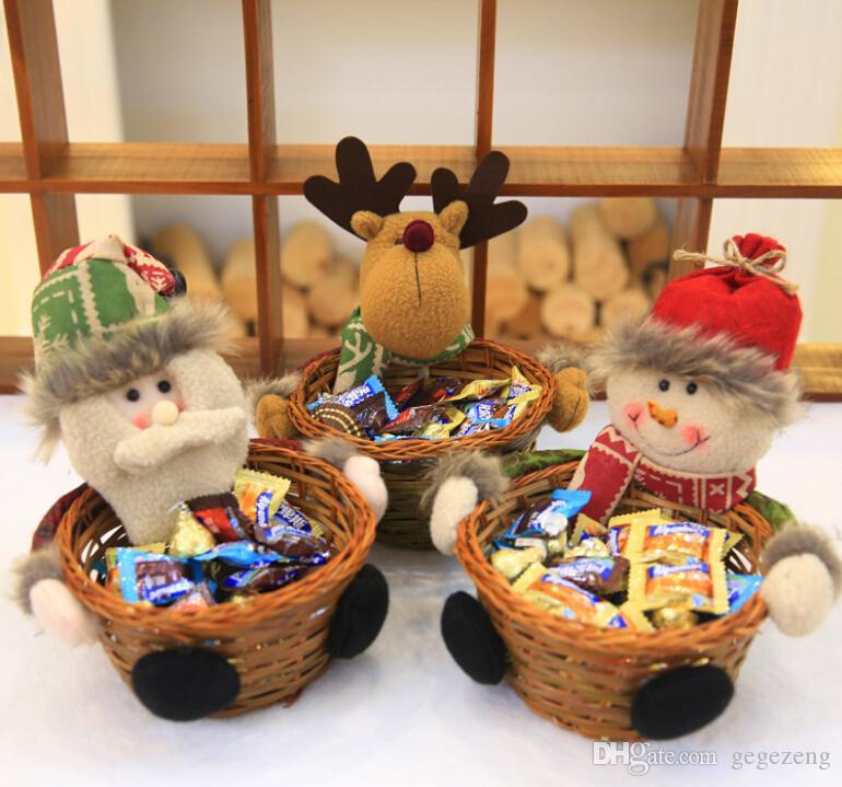 Décoration de Noël Bonbons Paniers de Noël de bureau Décoration Enfants de bonbons de Noël Décoration du cadeau