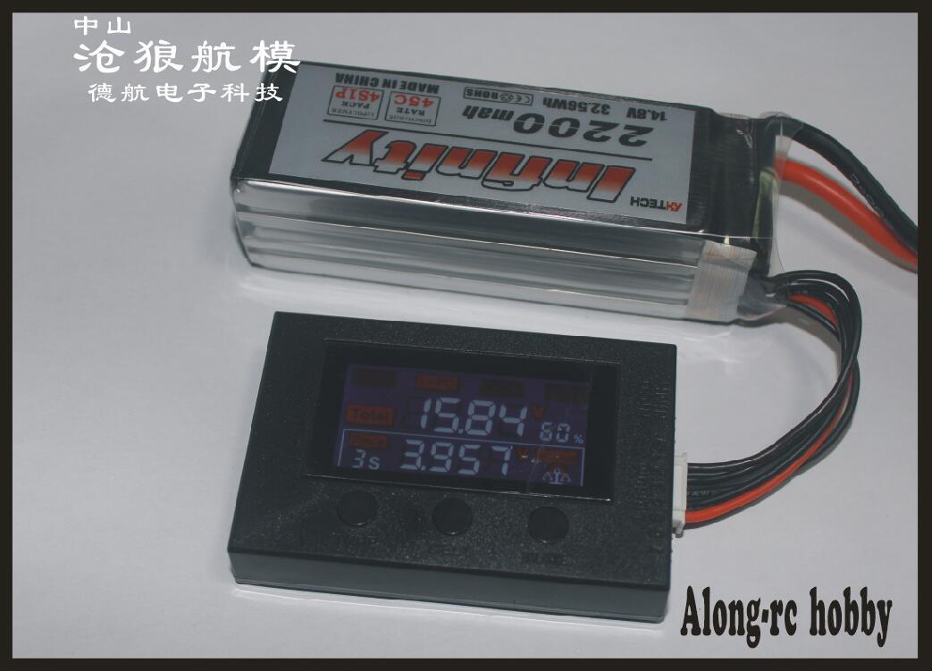 freies Verschiffen HotRc BX200 2-7S / Low Voltage Alarmton Lipo Batteriespannung Tester / Batteriespannung Checker-Radio-Anzeige für Batterie