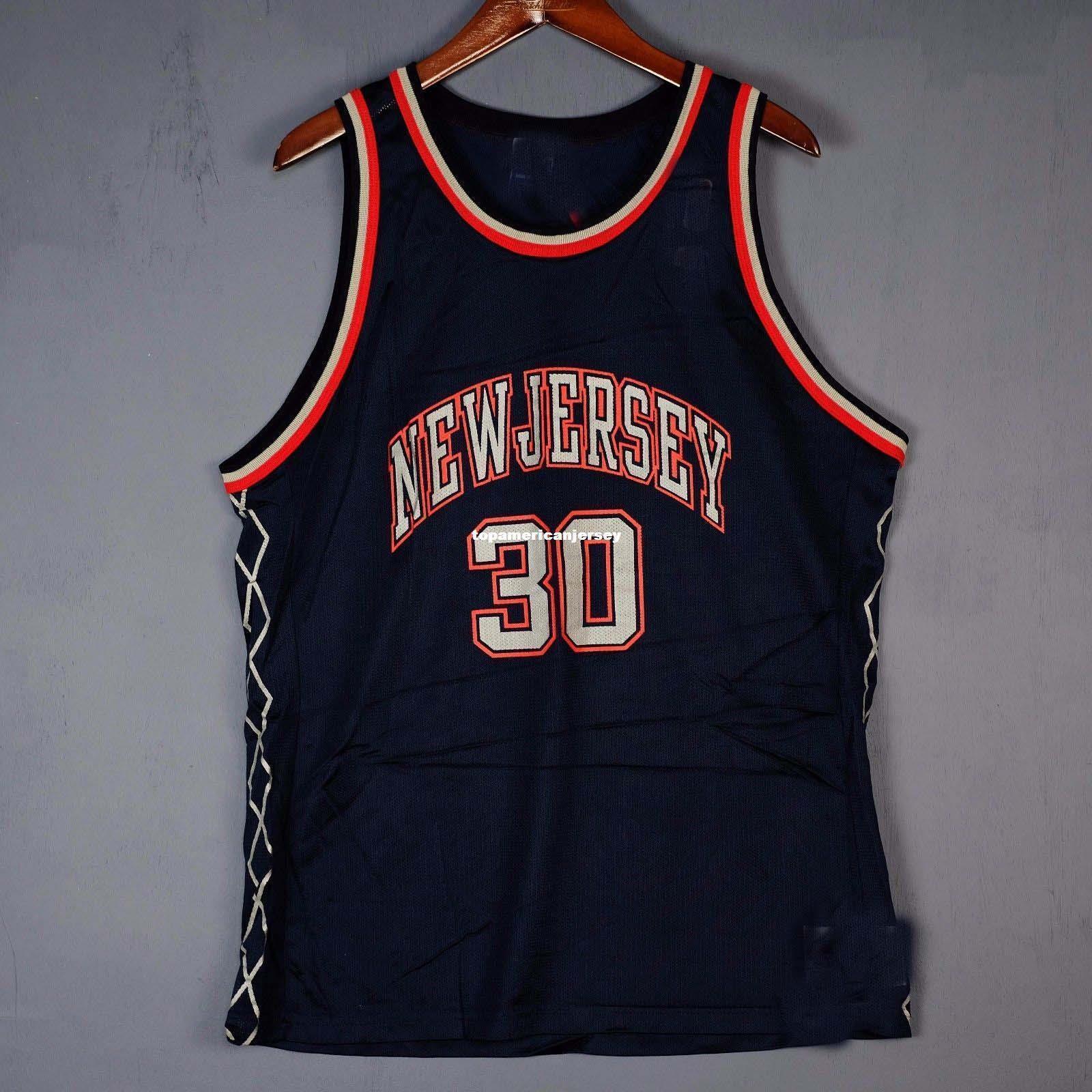 100% costurado Kerry Kittles Campeão Sewn # 30 Jersey Mens kidd Vest Mens Tamanho XS-6XL basquete Jerseys Ncaa