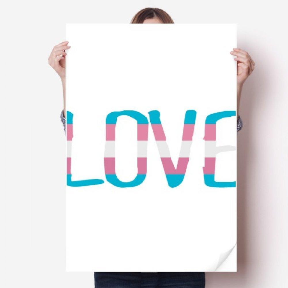 DIYthinker Aşk Transseksüel LGBT Destek Vinil Duvar Sticker Posteri Duvar Kağıdı Odası Çıkartması 80X55 cm