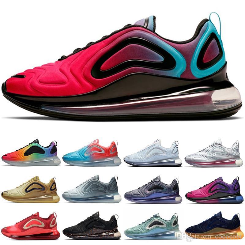 Compre Nike Air Max 720 Zapatillas De Hombre Y Mujer De Alta Calidad  Zapatillas De Deporte De Diseñador De Gofres Rojas, Azules, Lobos Y Grises  Neon ...