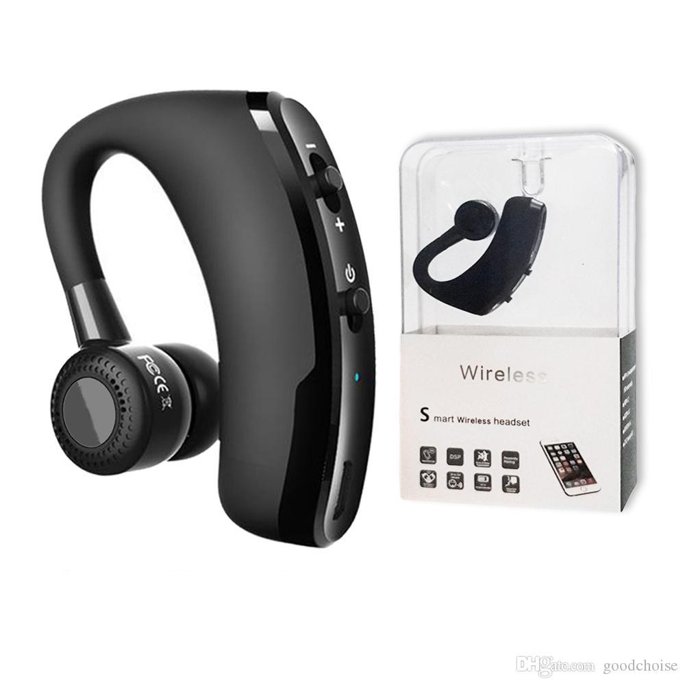 V9 V8 سماعات سماعات بلوتوث يدوي لاسلكي سماعة الأعمال محرك نداء الرياضة سماعات الأذن CSR 4.0