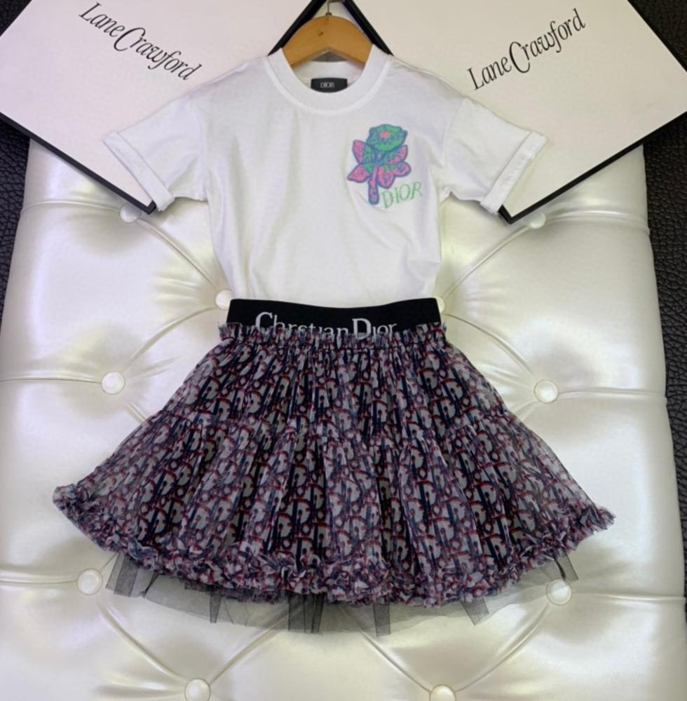Adatti a nuovo ragazze di estate a maniche corte principessa dolce Dress cute impostato 031.411