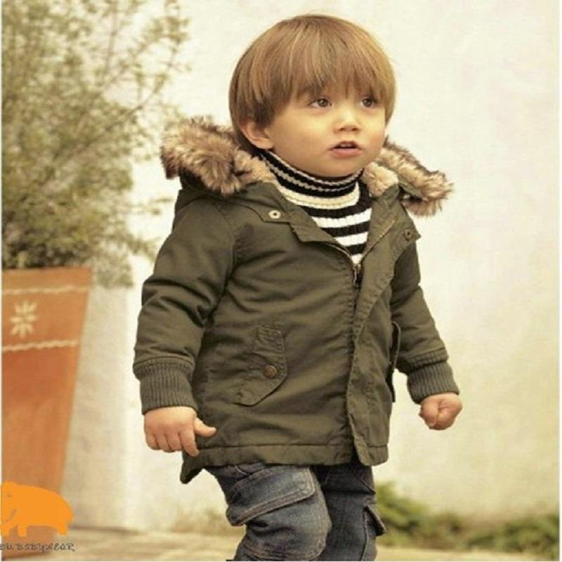 Baby Boys Winter Jacket Thick Keep Warm Hooded Coats Kids Boys Cotton Padded Warm Autumn Outerwear Children Clothes LY191225