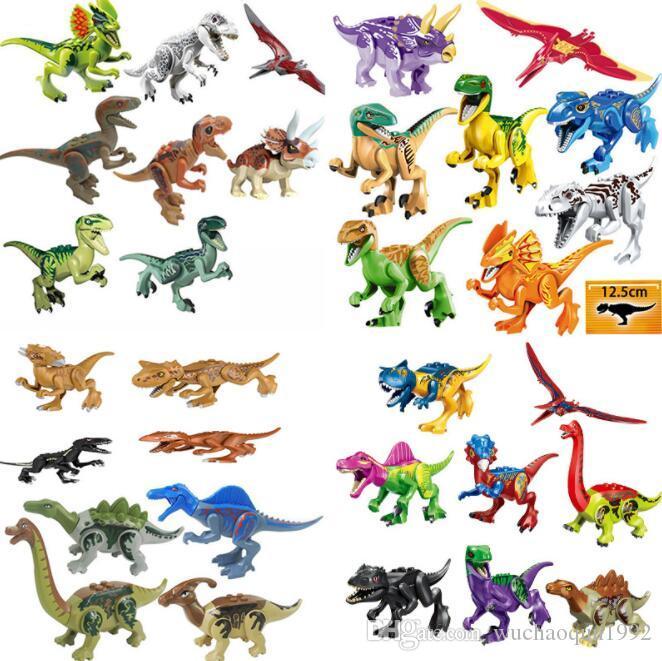 الجملة 32 الأنماط يمكن اختيار وحدات البناء أرقام نموذج الطوب الديناصور تجميع الاطفال الطوب لعب الاطفال هدايا عيد الميلاد لعب BY1141