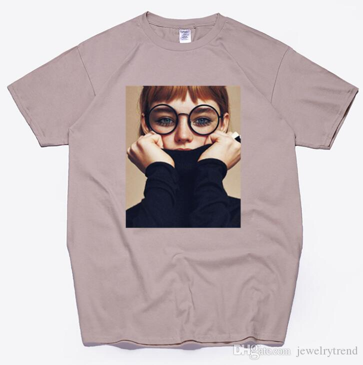 Europa Estate T-shirt da donna Donna Beauty Girl Top stampato Tee Cotone manica corta TShirts Sciolto TShirt S-XXL C4117