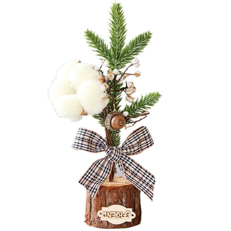 1 Adet Noel Süsleri Mini Küçük Noel ağacı Masaüstü Pencere Dekorasyon Kardan Adam Renkli