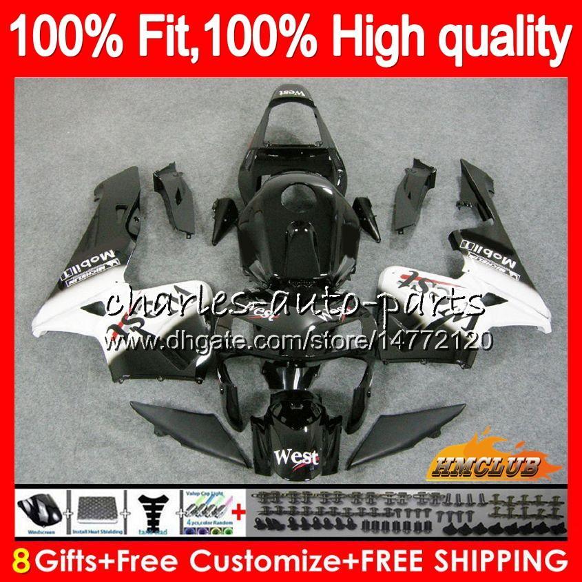 OEM Injection For HONDA CBR 600RR 600F5 CBR600F5 CBR600 RR 03 81HC.12 black west new CBR600RR CBR 600 RR F5 03 04 2003 2004 100% Fit Fairing