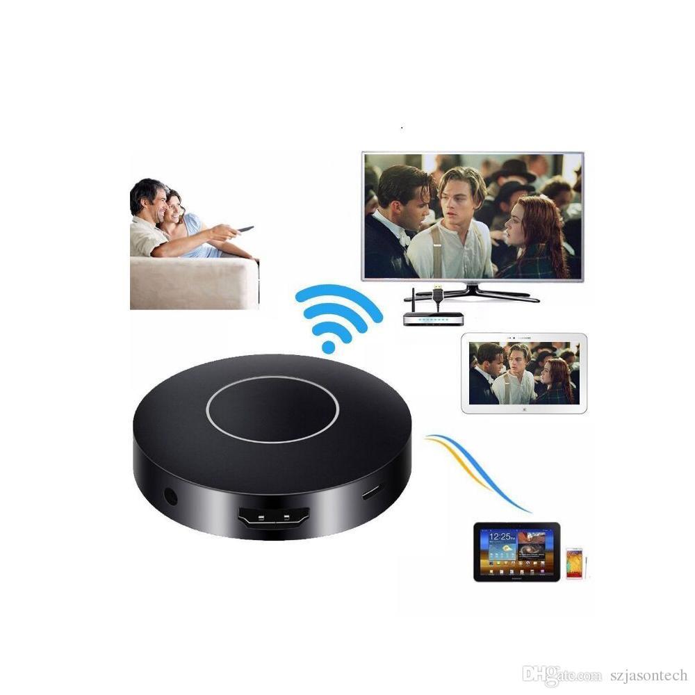Spedizione gratuita WIFI Display Dongle, WiFi Wireless 1080P Mini Display Ricevitore HDMI TV / AV Miracast DLNA Airplay per IOS / Android / Windows / Mac