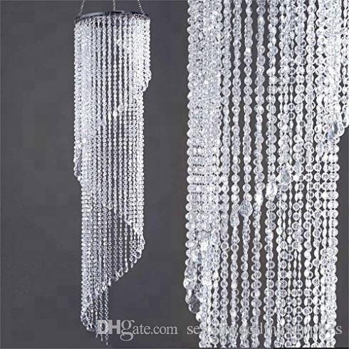 New style Crystal Curtain Garland Beads Acrylic Bead Chandelier for wedding stage backdrop decoratio senyu0284