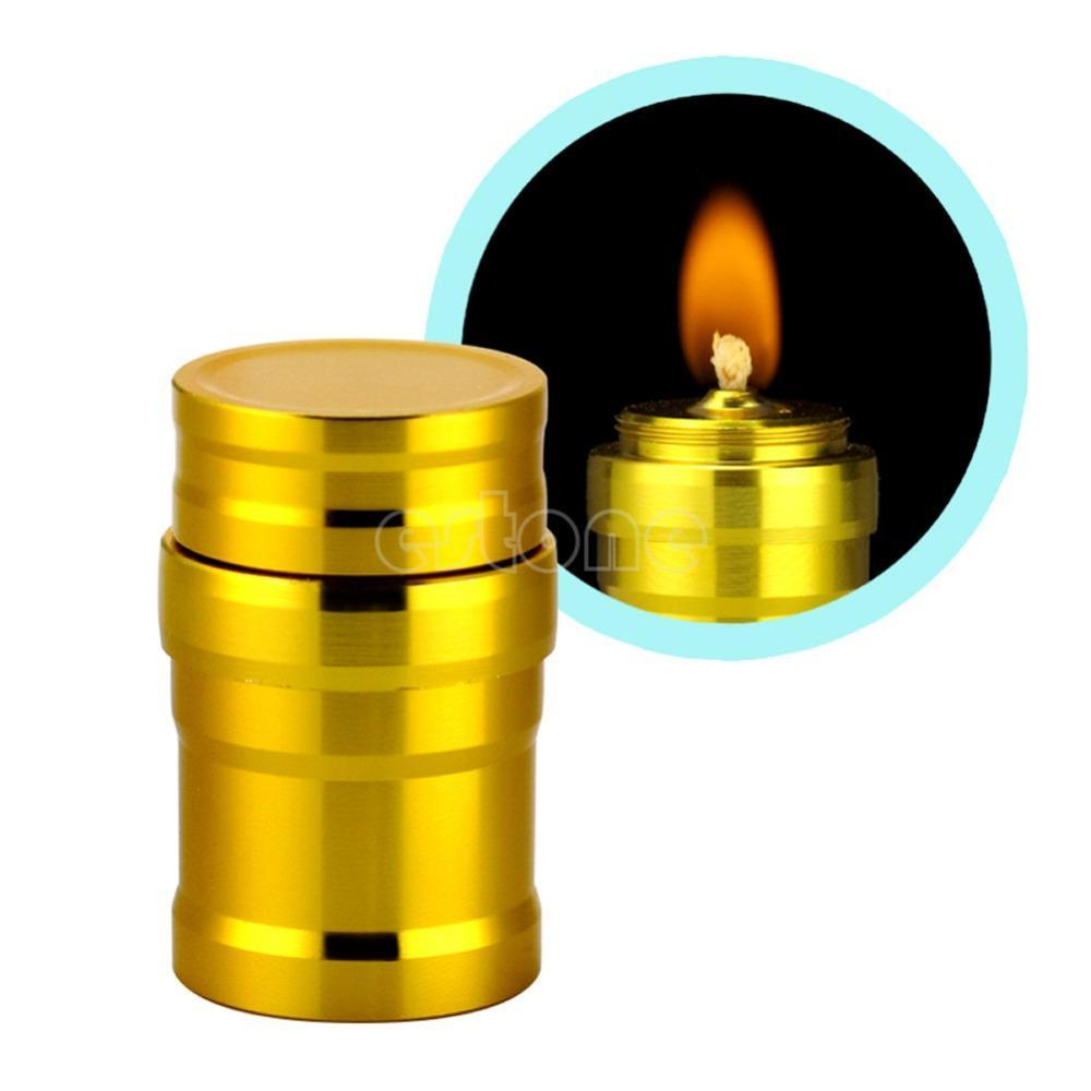Mini Portable Alcohol Burner Lamp Metal Case Lab Outdoor Heating Tool 6A