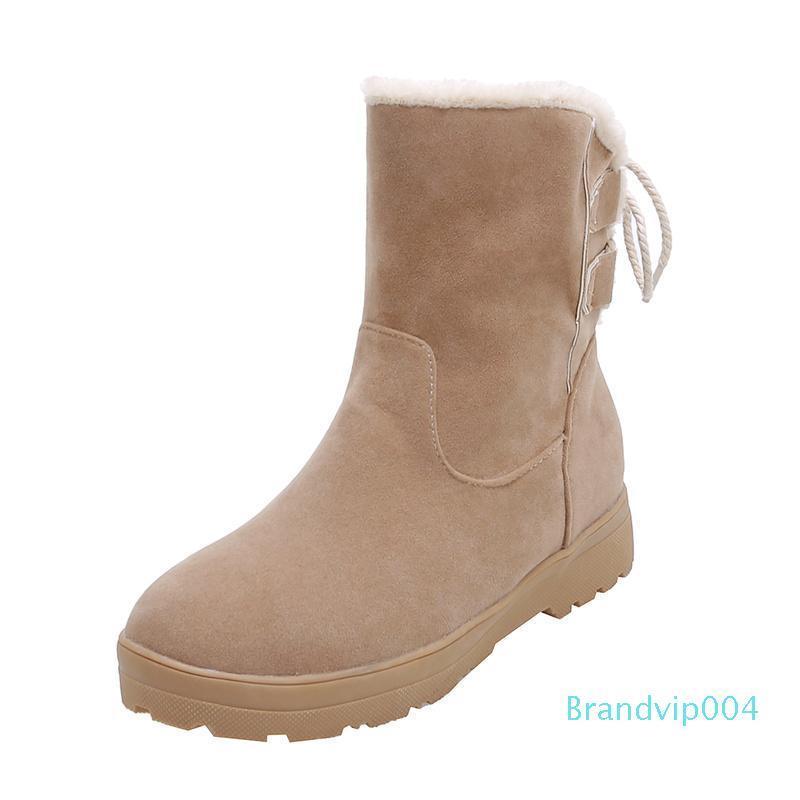 Talones de la venta caliente-Invierno Concisa piel botines Damas Low tobillo botas de nieve de las mujeres zapatos caliente mujer