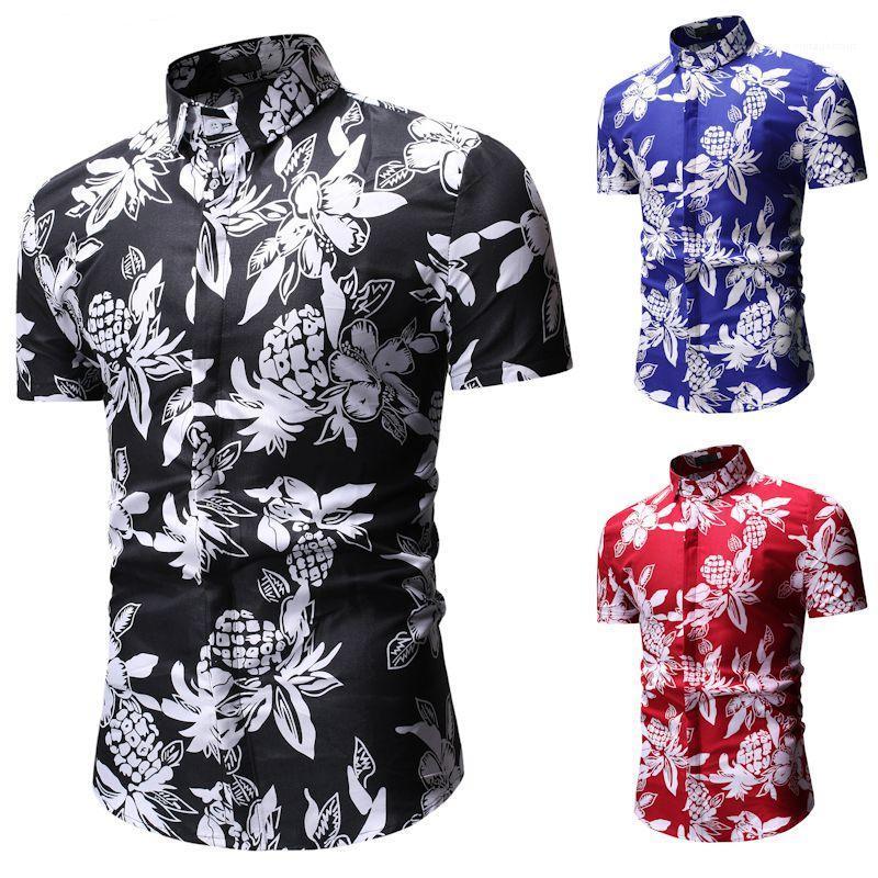 Designer Chemises hommes d'été imprimé floral Casual chemise à manches courtes Hauts pour hommes Vêtements pour hommes 2020 Luxe