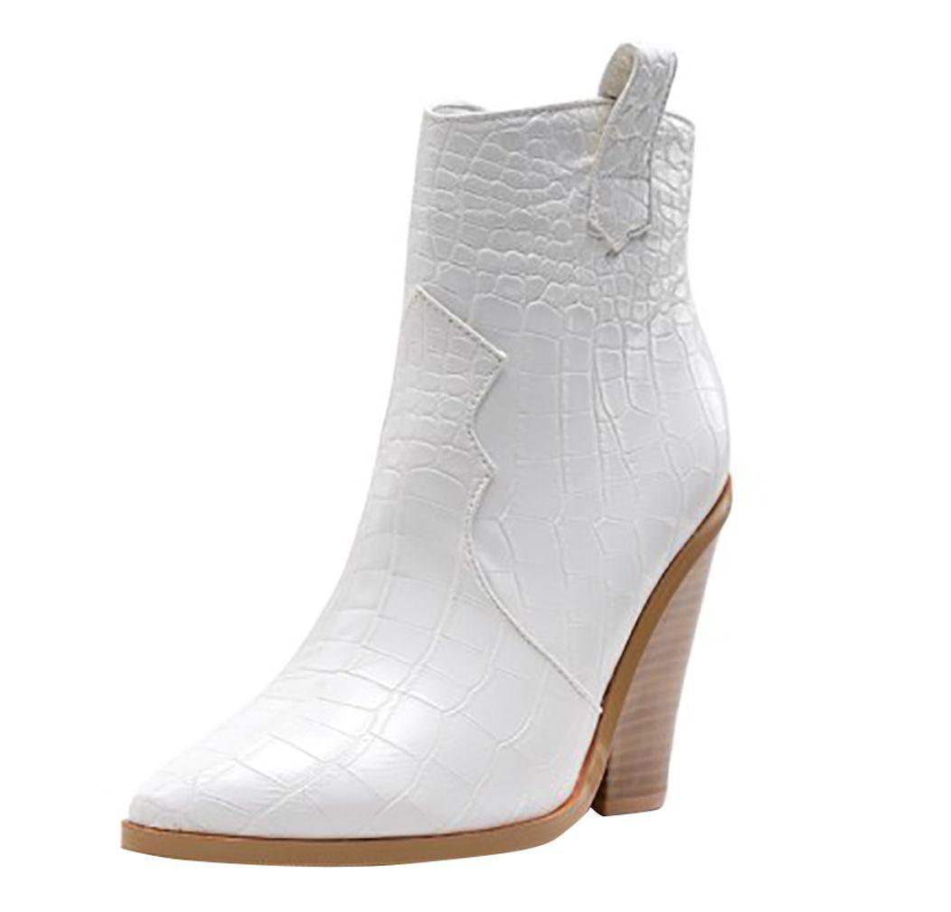 Sıcak Satış-El yapımı Chunky Topuk Ayak bileği Boots XJK tarzı Parti Abiye Patik Moda BFCM Kış Düğün Boots Ayakkabı 8195 Yandan fermuar