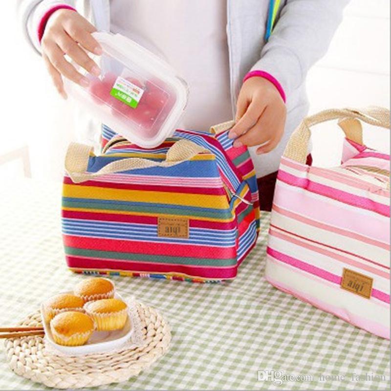 6Styles портативный обед путешествия обед полоса сумка коробка хранения открытый пикник держите теплые сумки с JHJBK