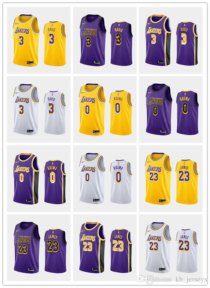 2019 Los Angeleslakers Anthony Davis Lebron James Kyle Kuzma Purple 2019 20nba Cityedition Basketball Jersey From Custom104 18 89 Dhgate Com