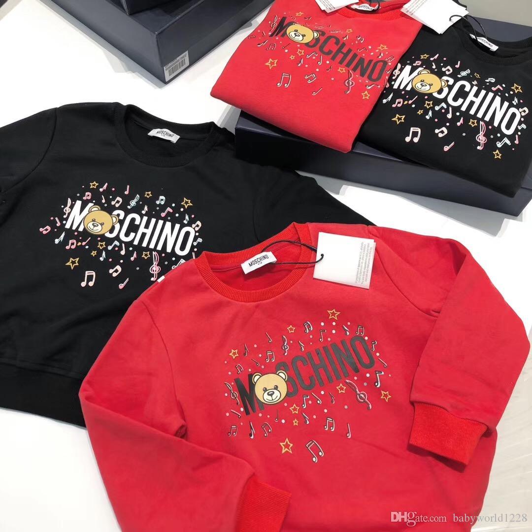 الشحن مجانا ربيع الخريف بنات بنين Sweatershirts الأطفال البلوز معطف القطن طويل كم فتاة فتى الملابس