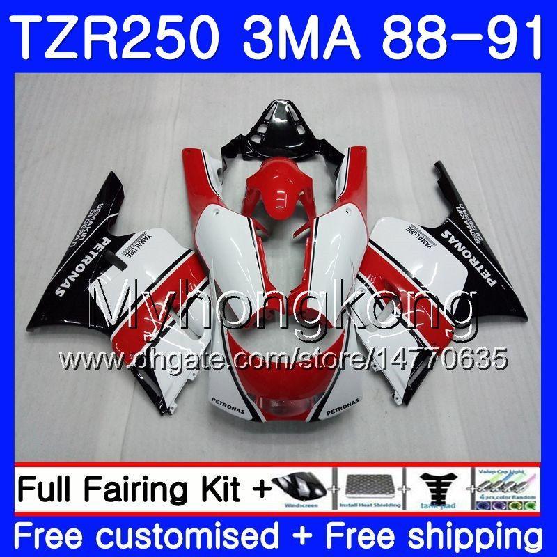 바디 용 YAMAHA TZR250RR RS RR YPVS TZR250 88 89 90 91 244HM.8 TZR-250 재고 검정 TZR250 3MA TZR 250 1988 1989 1990 1991 페어링 키트