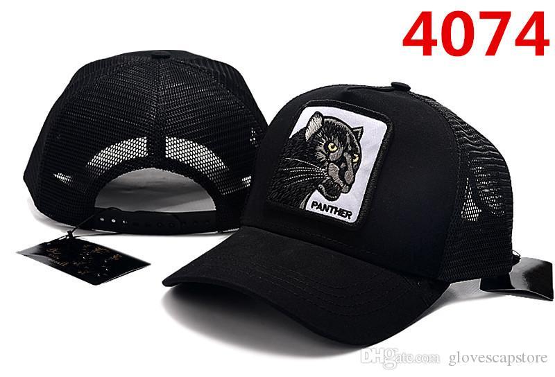 Design Caps Foxy Chapéus Marca Pantera Preto Sólido Tampão Baixo Homens Mulheres Ósseas Bonitas Ajustável Roo Casquette Golf Animal Basebol
