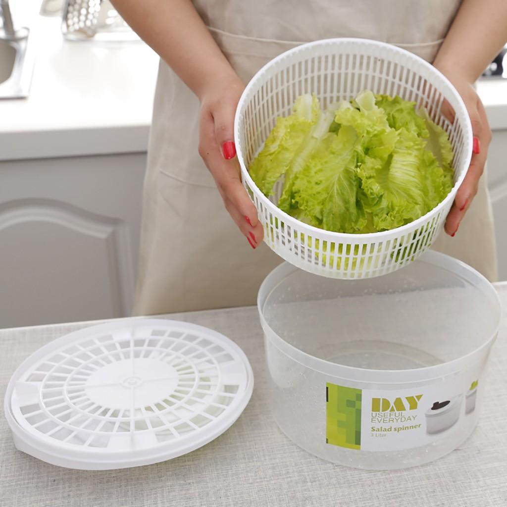 Vegetables Dryer Salad Spinner Fruits Basket Wash Clean Basket Storage Dryer Large Capacity Safe Kitchen New Portable Tools