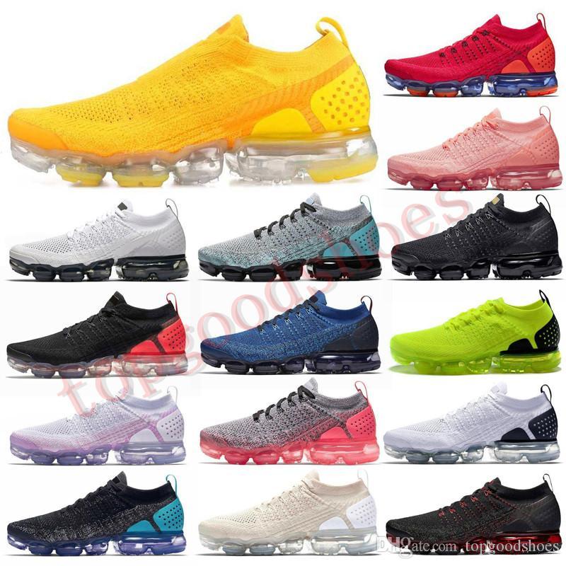 2019 يطير Chaussures زارة التجارة 2 Laceless 2.0 الاحذية الثلاثي الأسود مصمم الرجال النساء أحذية رياضية الأبيض حك وسادة المدربين Zapatos