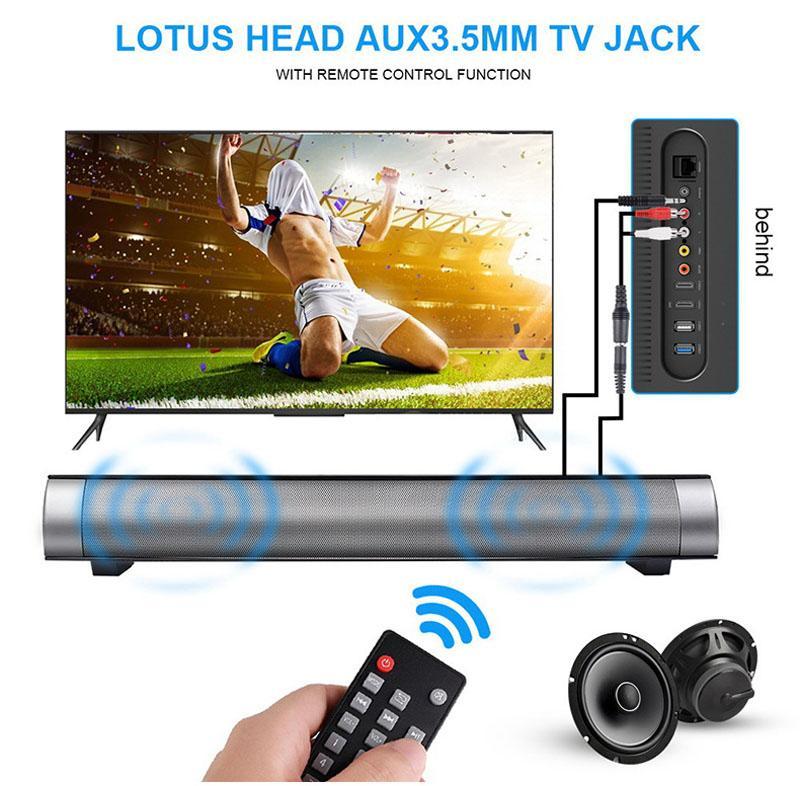 16W Portable Column Sven Bluetooth Speakers Move KTV 3D Sound System Bar Subwoofer Music Wireless Speaker FM Radio USB