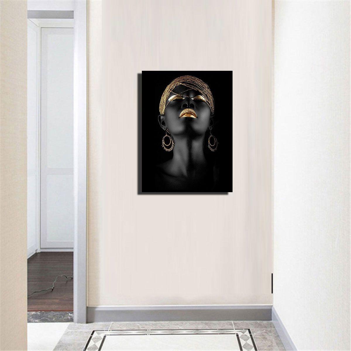 Bohemia Black Lady America Africa pittura retro donne parete Immagine Living Home Decor - 023