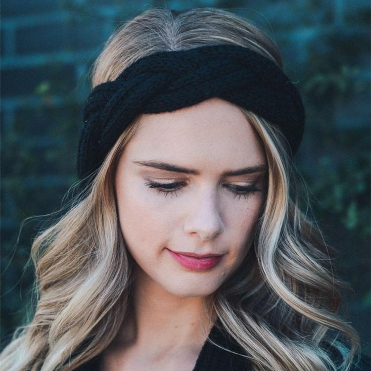 7 couleurs bande de cheveux tressées femmes Tricoté Headwrap Mode Crochet acrylique bandeau Filles d'hiver Accessoires cheveux gros TJY904