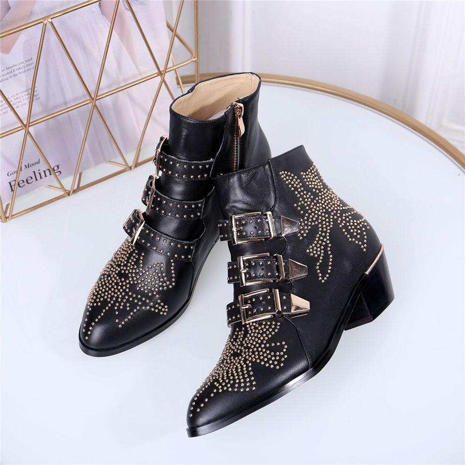 Lüks tasarımcı bayan botları Yeni Moda Akın Platformu Yüksek Topuklu Kadın Sonbahar Kış Rahat Ayak Bileği Çizmeler Ayakkabı 35-42