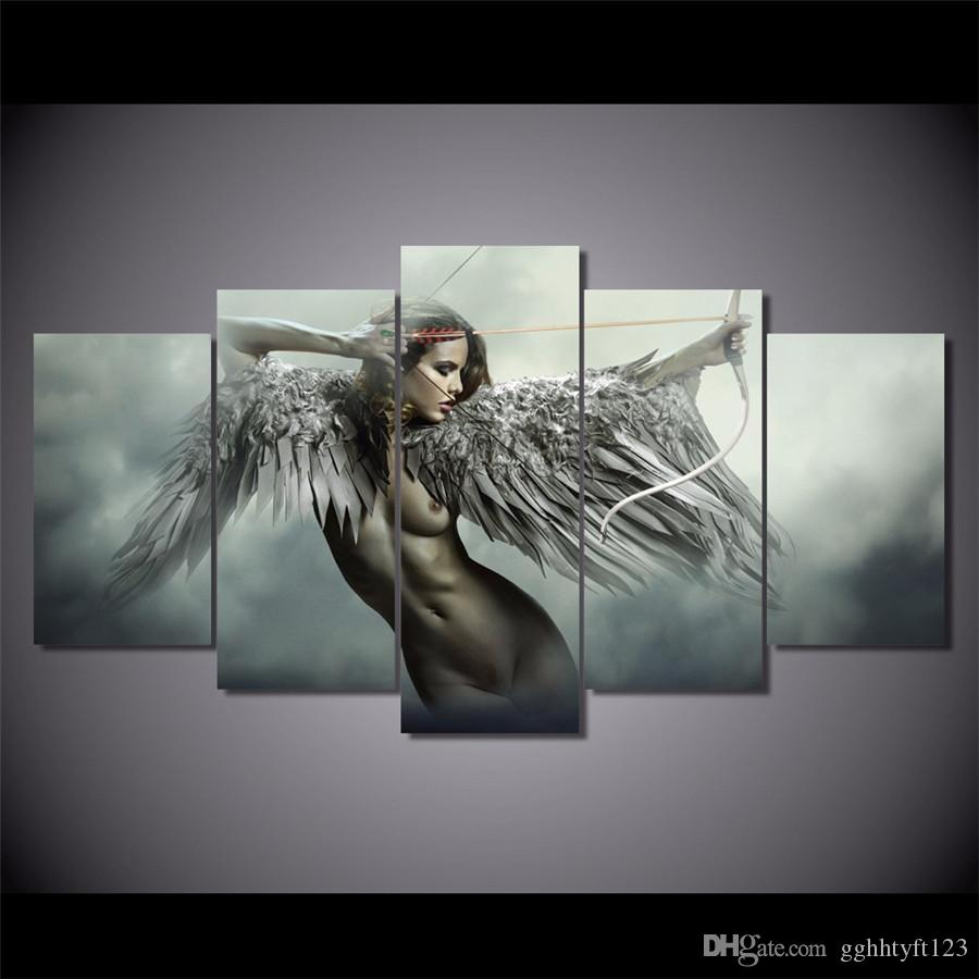 Art Wall Home Decor Fantasy Painting Butterfly Angel Picture Printed on Canvas