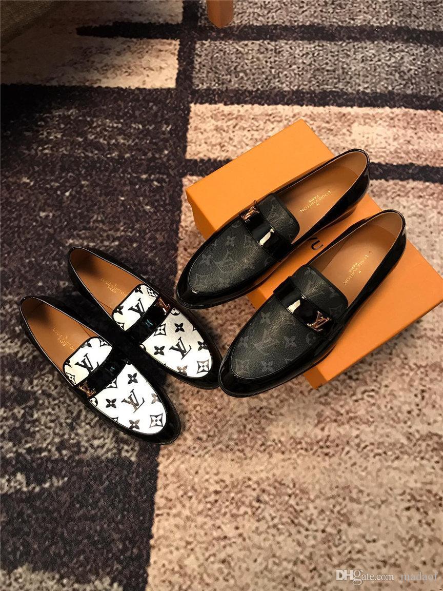2019 zapatos de lujo zapatos de boda de negocios Hombres superior respirable zapatos de cuero de goma zapatos de vestir formal masculino del partido de oficina