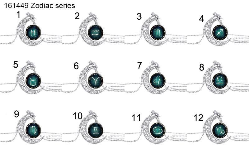 64 disegni collana cabochon in vetro albero della vita galassia luna zodiaco lupo fata collana pendenti gioielli di moda volontà e sabbia nave di goccia