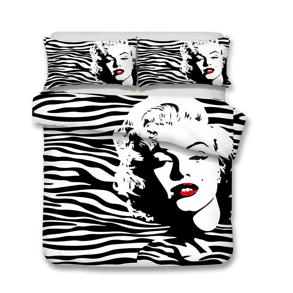 3D Marilyn Monroe Bedding Set Duvet Cover Pillowcase
