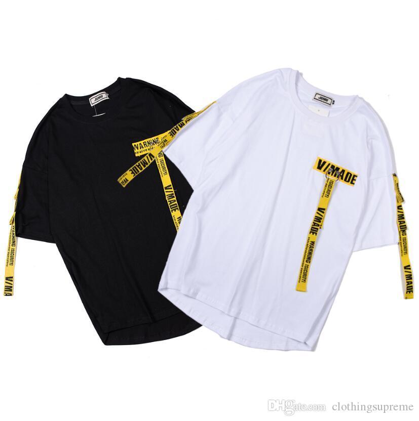 Novo Verão Designer T Camisas Dos Homens Hip Hop Carta Imprimir Camiseta Mens Manga Curta Tshirt